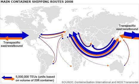 13 Ruta Troncal del Comercio Marítimo