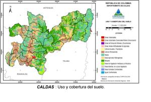 Mapa de Caldas Usos del Suelo y Coberturas vegetales.