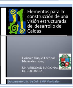 Elementos para la Construccion de una Vision Estructurada de Caldas 2014