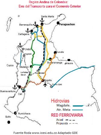 red ferrea colombia Uraba Buenaventura Altiplano
