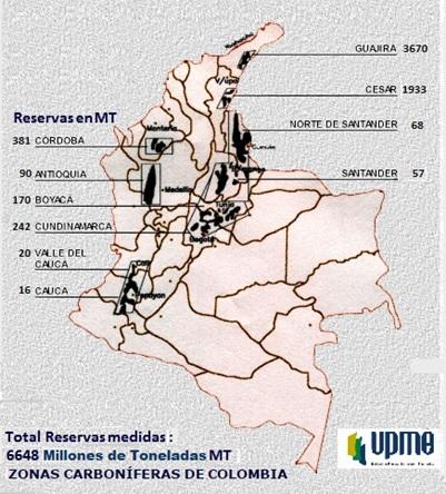 Resevas de carbon en colombia - UPME