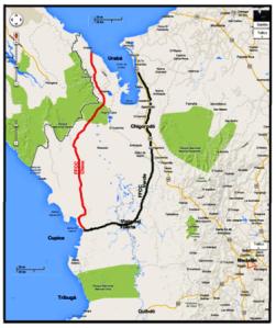 7 ferrocarril  interoceanico verde - ferrocarril chino - rio atrato - puerto de uraba