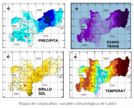 Caldas variables climatológicas
