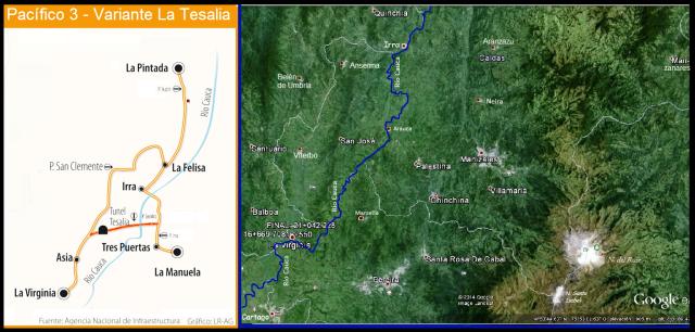 Conurbación Pereira - Manizales - río Cauca