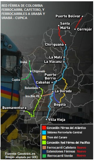 13 red férrea de colombia y ferrocarril cafetero