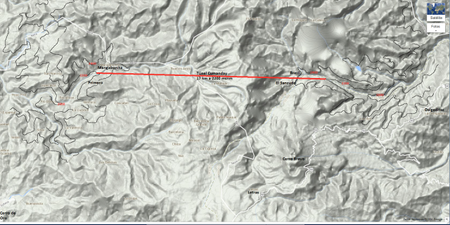 tunel cumanday- 17 km a 2200 msnm