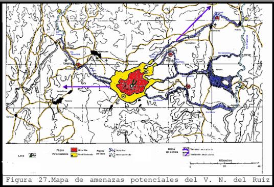mapa amenazas volcan ruiz 1986 corto