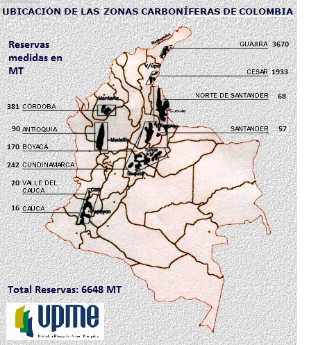 mapa distritos carbon colombia