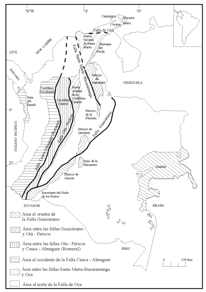 Mapa Rocas Metamorficas INGEOMINAS detallado