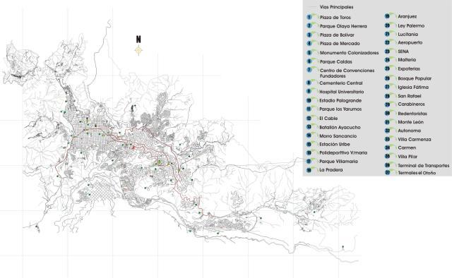 plano de manizales mapa