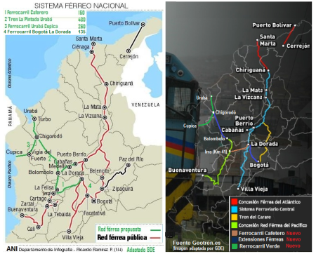 25 Tren FFCC Ferrocarril Colombia Rail