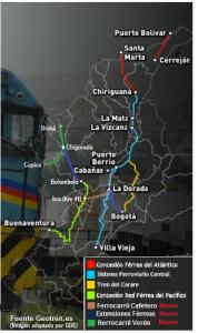 16 tren ffcc ferreo ferrocarril colombia railroad