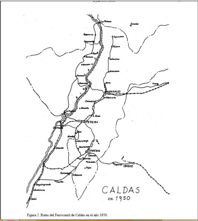 Ferrocarril Caldas 1950