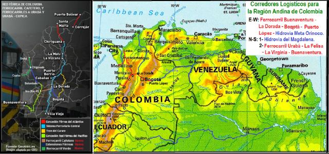 corredores logisticos - region andina de colombia