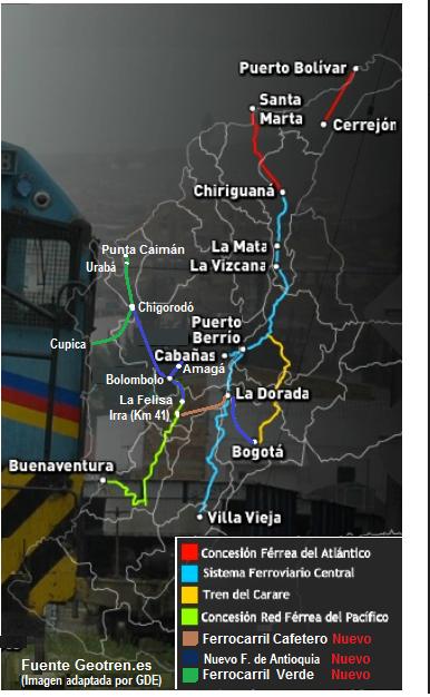 7 tren andino - red ferrea - ferrocarril cafetero - colombia railroad