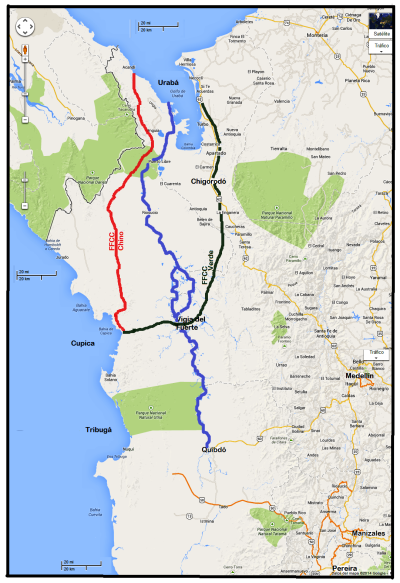 8  ferrocarril verde -uraba  cupica - hidrovia atrato