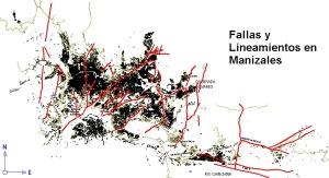 manizales-caldas-colombia-fallas geologicas y lineamientos estructurales