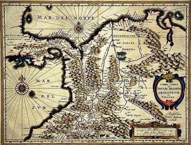 Resultado de imagen para Mapa del Nuevo Reino de Granada en rexwordpuzzle.blogspot.com godues