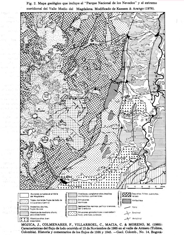 2- Geologia del Area del  Complejo Ruiz - Tolima y Magdalena Centro (2)
