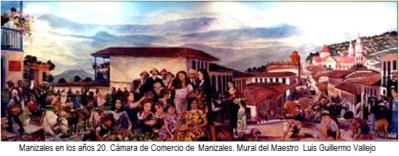 Manizales años 20 - Mural de Luis Guillermo Vallejo