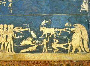 egipto techo astronomico de la tumba de seti I