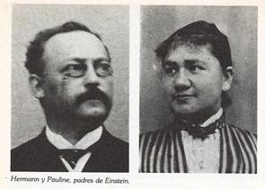 Hermann y Pauline - padres de Einstein