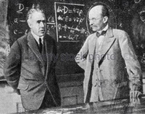 niels bohr-left and max planck-right