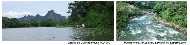 Charca de Guarinocito y Puente Viejo rio la Miel
