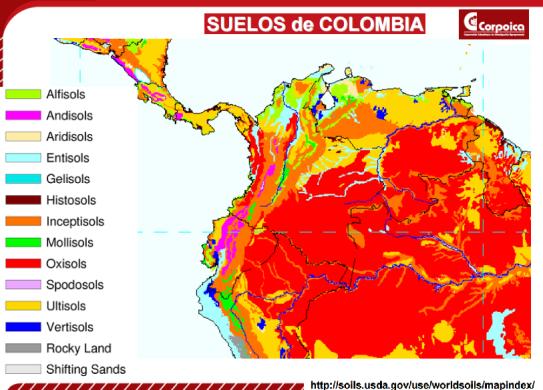 Los suelos de colombia godues for 4 usos del suelo en colombia